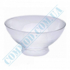 Forms for buffet tables Medium bowl 110*110*55mm transparent 250ml 6 pieces per pack