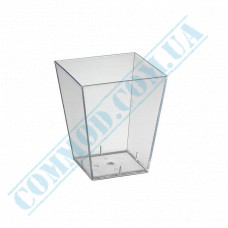 Forms buffet Square 47*47*45mm transparent 60ml 20 pieces per pack