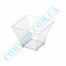 Forms buffet Pagoda 62*62*50mm transparent 90ml 25 pieces per pack