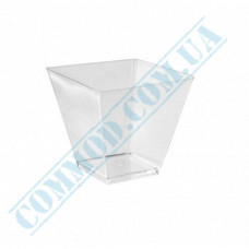 Forms buffet Rhombus 55*56*53mm transparent 95ml 25 pieces per pack