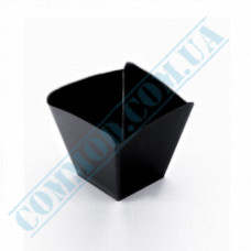 Forms buffet Wave 57*57*50mm black 95ml 25 pieces per pack