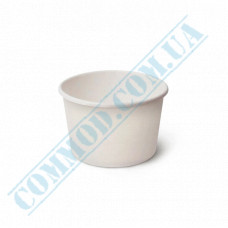 Ice cream paper cups 125ml Ǿ=75mm h=50mm white 50 pieces