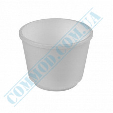 Round containers made of expanded polystyrene 200ml for cold and hot dishes, white without lid 25 pieces per pack