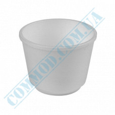 Round containers made of foamed polystyrene 250ml for cold and hot dishes, white without lid 35 pieces per pack