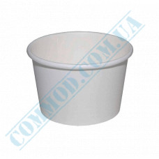 Ice cream paper cups 280ml Ǿ=87mm h=70mm white 50 pieces