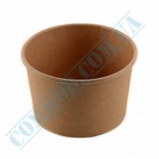 Ice cream paper cups 280ml Ǿ=87mm h=70mm kraft 50 pieces