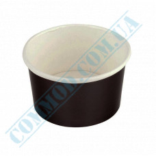 Ice cream paper cups 280ml Ǿ=87mm h=70mm black 50 pieces
