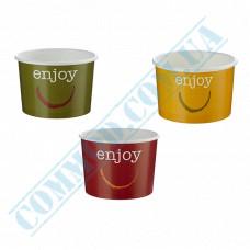 Ice cream paper cups 300ml Ǿ=96mm h=67mm Enjoy Mix 50 pieces Huhtamaki (Poland)