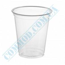 Cocktails PET cups 300ml transparent 50 pieces per pack under the lid Dome Ǿ=96mm (Ukraine)