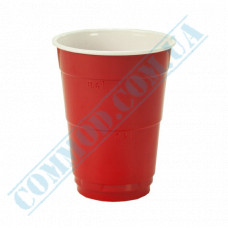 Cocktails PS cups 400ml red Party Cups 50 pieces under a lid Dome Ǿ=95mm Huhtamaki (Poland)
