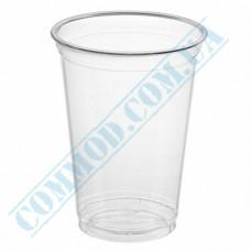 Cocktails PET cups 400ml transparent 50 pieces per pack under the lid Dome Ǿ=96mm (Ukraine)