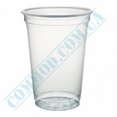 Cocktails APET cups 400ml transparent 56 pieces per pack under a lid Dome Ǿ=95mm Huhtamaki (Poland)