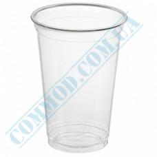 Cocktails PET cups 500ml transparent 50 pieces per pack under the lid Dome Ǿ=96mm (Ukraine)