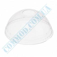 PET transparent dome lids Ǿ=95mm with a hole 50 pieces (Ukraine)