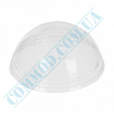 Plastic transparent dome lids Ǿ=95mm without hole 50 pieces (Ukraine)