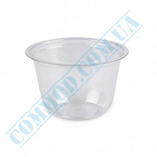 Plastic transparent dessert cups Cone 200ml Ǿ=95mm h=55mm without lid 50 pieces