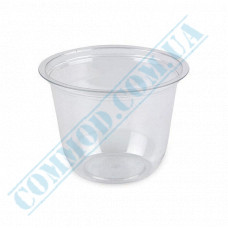 Plastic transparent dessert cups Cone 250ml Ǿ=95mm h=65mm without lid 50 pieces