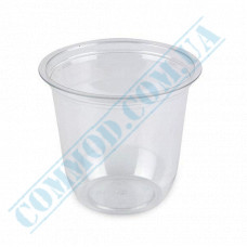Plastic transparent dessert cups Cone 350ml Ǿ=95mm h=90mm without lid 50 pieces
