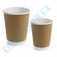 Double Wall paper cups 350ml Kraft-White 25 pieces per pack