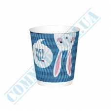 Double Wall Rippled paper cups 175ml Rabbits 20 pieces per pack