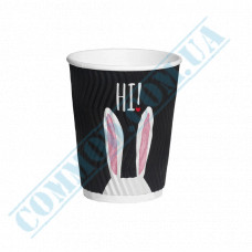 Double Wall Rippled paper cups 250ml Rabbits 20 pieces per pack