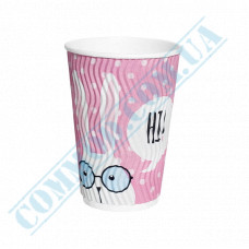 Double Wall Rippled paper cups 340ml Rabbits 20 pieces per pack