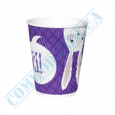 Double Wall Rippled paper cups 400ml Rabbits 15 pieces per pack