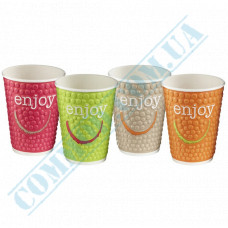 Double Wall Rippled paper cups 350ml Impresso 40 pieces per pack Huhtamaki (Poland)