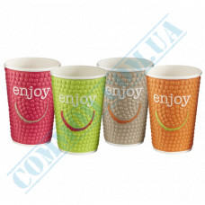 Double Wall Rippled paper cups 400ml Impresso 25 pieces per pack Huhtamaki (Poland)