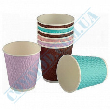 Double Wall Rippled paper cups 250ml Coffee Beans 37 pieces per pack Huhtamaki (Poland)