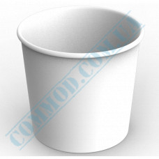 Paper containers | 700ml | Ǿ=114mm h=106mm | White | without lid | for hot and cold food | 100 pieces per pack