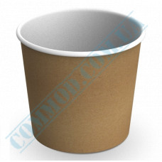 Paper containers | 700ml | Ǿ=114mm h=106mm | Craft | without lid | for hot and cold food | 100 pieces per pack