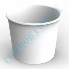 Paper containers | 2500ml | Ǿ=166mm h=143mm | White | without lid | for hot and cold food | 50 pieces per pack
