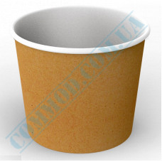Paper containers | 2500ml | Ǿ=166mm h=143mm | Craft | without lid | for hot and cold food | 50 pieces per pack