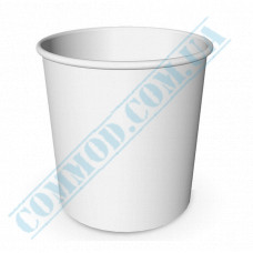 Paper cups containers 4000ml V130 White 50 pieces