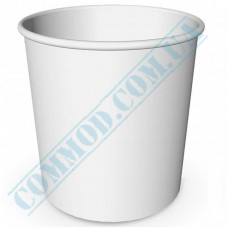Paper containers | 4000ml | Ǿ=178mm h=200mm | White | without lid | for hot and cold food | 50 pieces per pack
