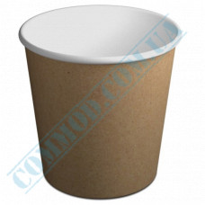 Paper containers | 4000ml | Ǿ=178mm h=200mm | Craft | without lid | for cold and hot food | 50 pieces per pack