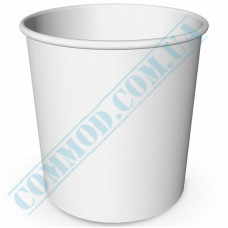 Paper containers | 5000ml | Ǿ=200mm h=203mm | White | without lid | for hot and cold food | 50 pieces per pack