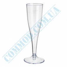 Champagne glasses 100ml glass-like transparent Flute 18 pieces per pack