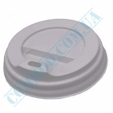 Plastic PS lids Ǿ=90mm for paper cups 350-500ml white 100 pieces per pack