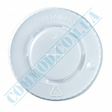 Plastic PS lids Ǿ=90mm for paper cups 350-500ml flat translucent Huhtamaki (Poland) 150 pieces per pack
