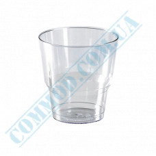 Glass-like cups 200ml transparent 50 pieces per pack (marks 100*150*200ml)