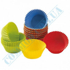 Forms, paper Colored | for muffins cupcakes | Ǿ=50mm h=30mm | 200 pieces per package