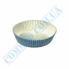 Paper forms for muffins and cupcakes D-65mm h-20mm White 1000 pieces per pack