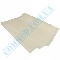 White fat-resistant food paper   320*320mm   30g/m2   art. 1697   1000 pieces per pack