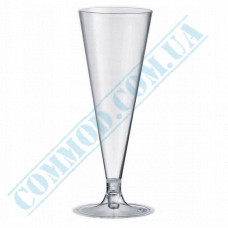 Champagne glasses Cone 100ml glass-like transparent 18 pieces per pack