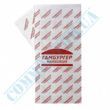 Food paper 40g/m2 with drawing 300*320mm for Hamburger 1000 pieces per pack fat-resistant article 1880