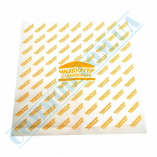 Food paper 40g/m2 with a pattern 300*320mm for Cheeseburgers 1000 pieces per pack fat-resistant article 1860