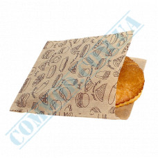 Kraft paper corners with a pattern   40g/m2   140*140mm   art. 45   500 pieces per pack