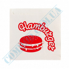 Paper corners for hamburgers with a pattern   40g/m2   150*140mm   500 pieces per pack